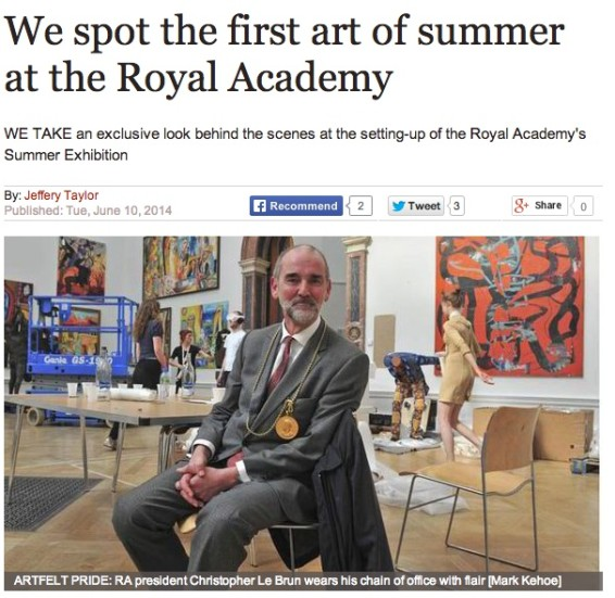 We spot the first art of summer at the Royal Academy
