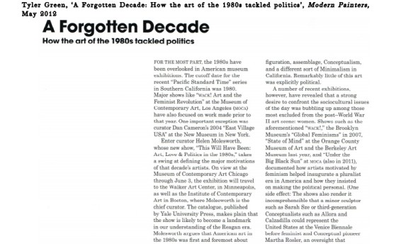 A Forgotten Decade: How the art of the 1980s tackled politics
