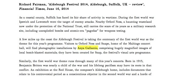 Aldeburgh Festival 2014, Aldeburgh, Suffolk, UK – review
