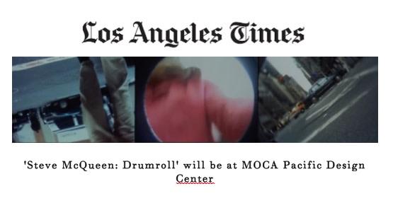 'Steve McQueen: Drumroll' will be at MOCA Pacific Design Center