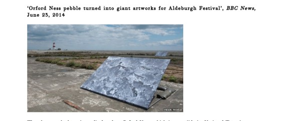 Orford Ness pebble turned into giant artworks for Aldeburgh Festival