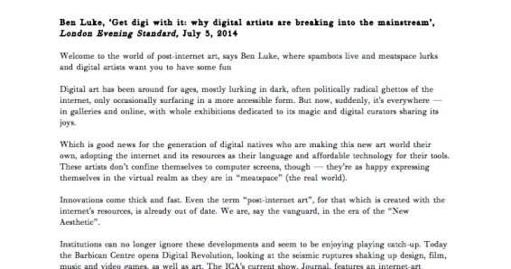 Get digi with it: why digital artists are breaking into the mainstream