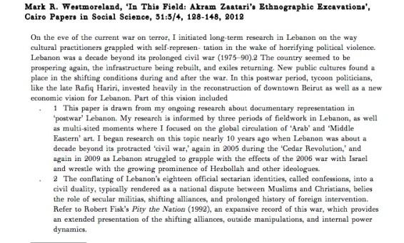 In This Field: Akram Zaatari's Ethnographic Excavations