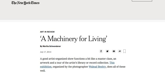 A Machinery for Living