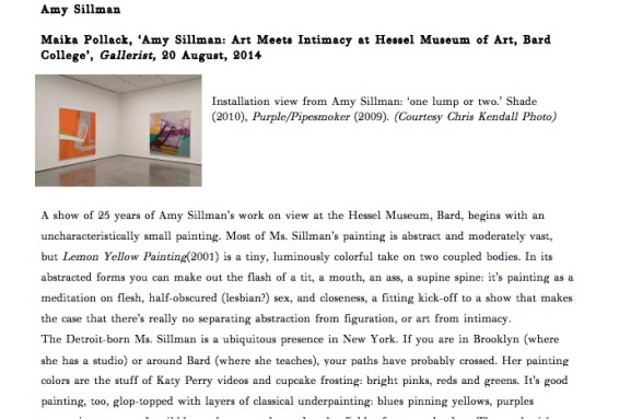 Amy Sillman: Art Meets Intimacy at Hessel Museum of Art, Bard College