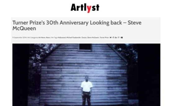 Turner Prize's 30th Anniversary Looking back - Steve McQueen