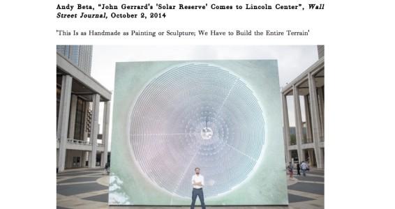 John Gerrard's 'Solar Reserve' Comes to Lincoln Center