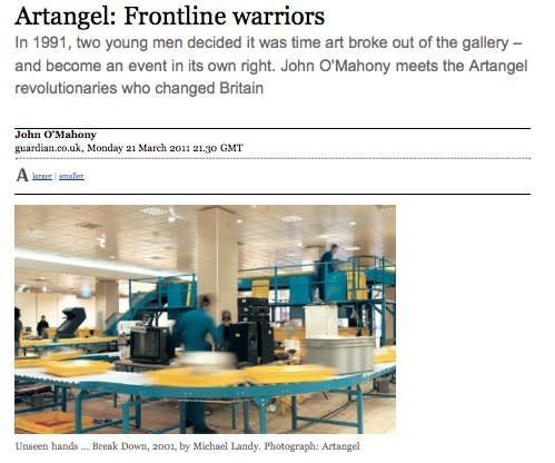 Artangel: Frontline warriors