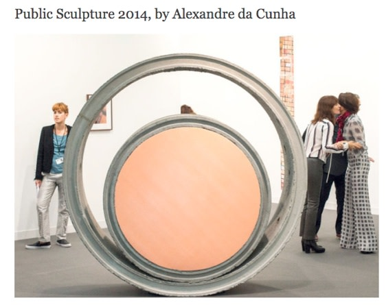 Public Sculpture 2014, by Alexandre da Cunha