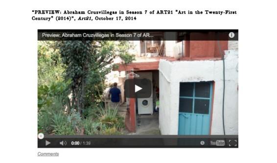 PREVIEW: Abraham Cruzvillegas in Season 7 of ART21
