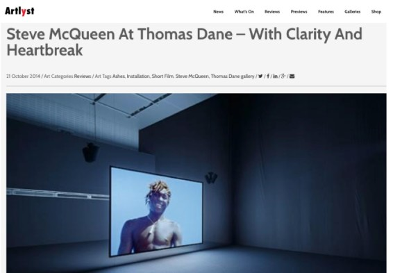 Steve McQueen At Thomas Dane - With Clarity And Heartbreak