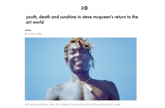 Youth, death and sunshine in Steve Mcqueen's return to the art world