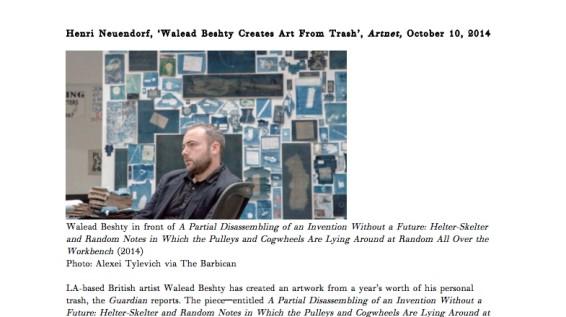 Walead Beshty Creates Art From Trash