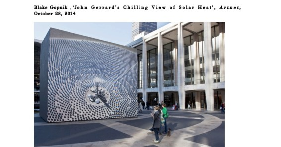 John Gerrard's Chilling View of Solar Heat