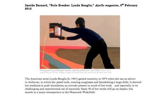 Rule Breaker: Lynda Benglis