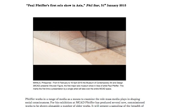 Paul Pfeiffer's first solo show in Asia