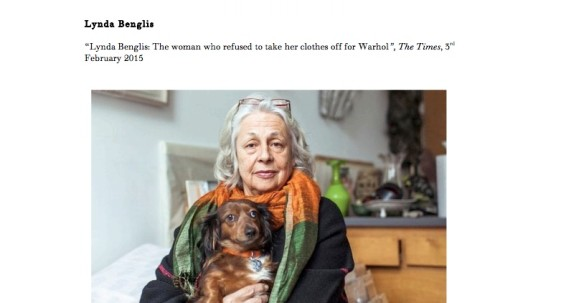 Lynda Benglis: The Woman who refused to take her clothes off for Warhol