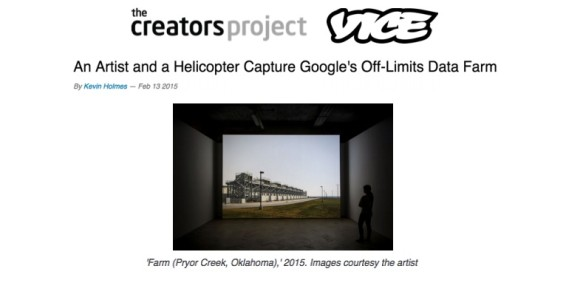 An Artist and a Helicopter Capture Google's Off-Limits Data Farm