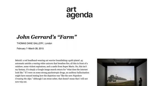 "John Gerrard's ""Farm"""