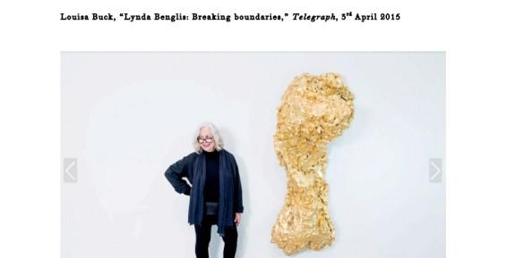 Lynda Benglis: Breaking boundaries