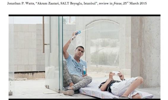 Akram Zaatari, SALT Beyoglu, Istanbul