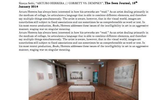 Arturo Herrera//Corbett vs. Dempsey