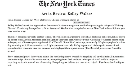 Art in Review; Kelley Walker