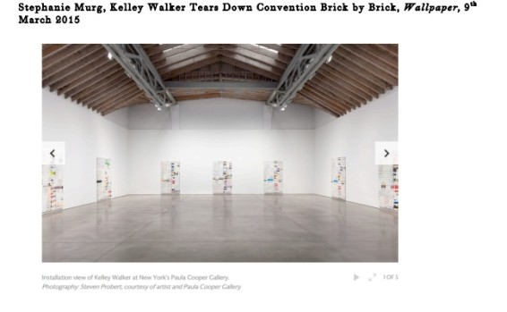Kelley Walker Tears Down Convention Brick by Brick