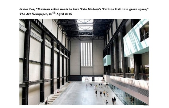 Mexican artist wants to turn Tate Modern's Turbine Hall into green space