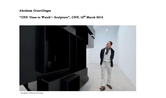 CNN 'Ones to Watch'– Sculpture
