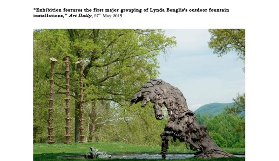 Exhibition features the first major grouping of Lynda Benglis's outdoor fountain