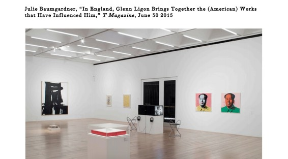 In England, Glenn Ligon Brings Together the (American) Works that Have Influenced Him