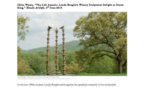 The Life Aquatic: Lynda Benglis's Watery Sculptures Delight at Storm King
