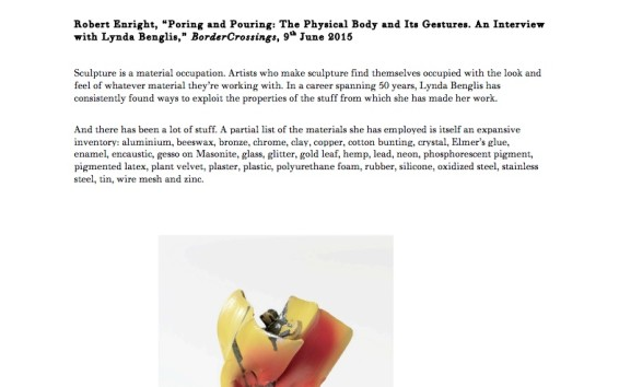 Poring and Pouring: The Physical Body and Its Gestures