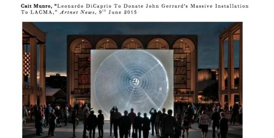 Leonardo DiCaprio To Donate John Gerrard's Massive Installation To LACMA