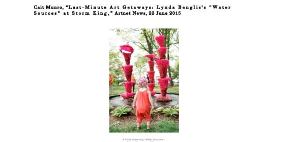 Last-Minute Art Getaways: Lynda Benglis's