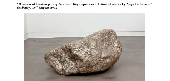 Museum of Contemporary Art San Diego opens exhibition of works by Anya Gallaccio