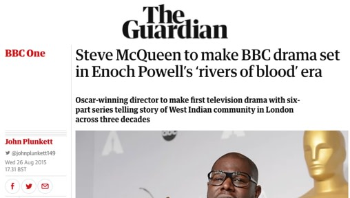 Steve McQueen to make BBC drama set in Enoch Powell's 'rivers of blood' era
