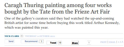 Caragh Thuring painting among four works bought by the tate from the Frieze Art Fair