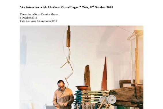 An interview with Abraham Cruzvillegas