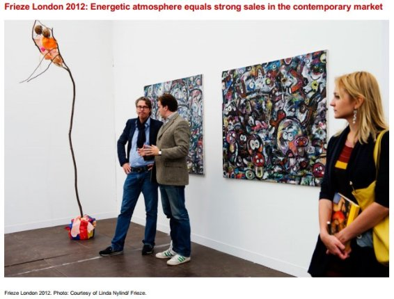 Frieze London 2012: Energetic atmosphere equals strong sales in the contemporary market