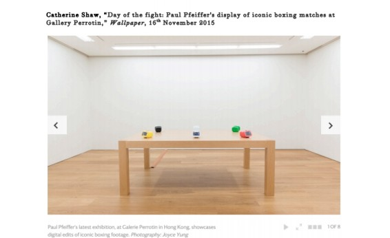 Day of the fight: Paul Pfeiffer's display of iconic boxing matches at Gallery Perrotin