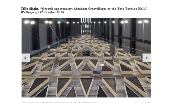 Growth opportunity: Abraham Cruzvillegas at the Tate Turbine Hall