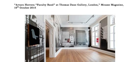 "Arturo Herrera ""Faculty Band"" at Thomas Dane Gallery, London,"