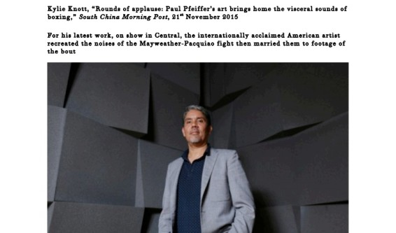 Rounds of applause: Paul Pfeiffer's art brings home the visceral sounds of boxing