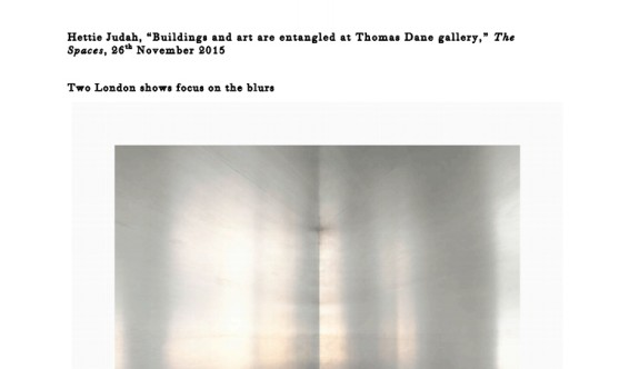 Buildings and art are entangled at Thomas Dane gallery