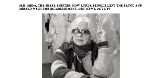 The Shape-Shifter: How Lynda Benglis left the Bayou and messed with the establishment