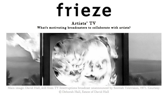Artists' TV - What's motivating broadcasters to collaborate with artists?