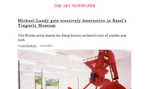 Michael Landy gets creatively destructive in Basel's Tinguely Museum