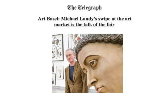 Art Basel: Michael Landy's swipe at the art market is the talk of the fair